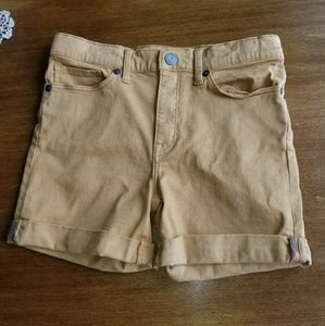 Burberry girls cuffed camel stretch shorts
